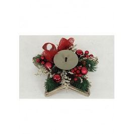 Svícen s vánoční dekorací