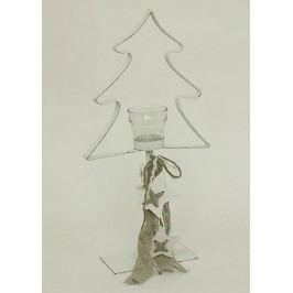 Svícen kovový ve tvaru stromku