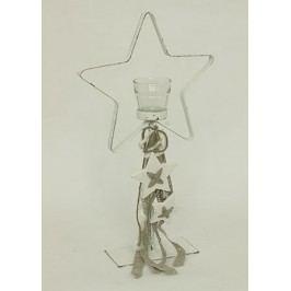 Svícen kovový ve tvaru hvězdy