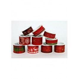 Stuha s vánočním potiskem, návin 2m, šíře 2,5 nebo 4cm. Cena za 10ks/1sáček.