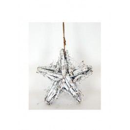 Hvězda z větví - bílá
