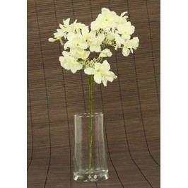 Hortenzie umělá květina, krémová glitrovaná