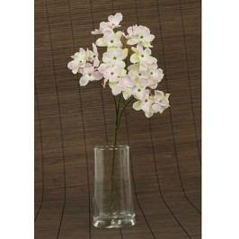 Hortenzie umělá květina,  staro-růžová glitrovaná
