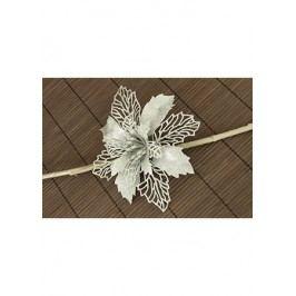Květina stříbrná dekorační na klipu. Cena za 1ks.