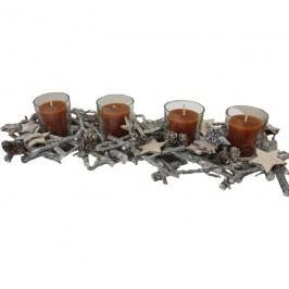 svícen na 4 svíčky s šiškami, P0077