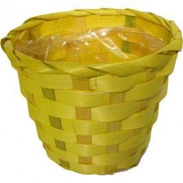 obal na květiny s plastem žlutý