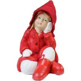 holčička v červeném, keramika, X0114
