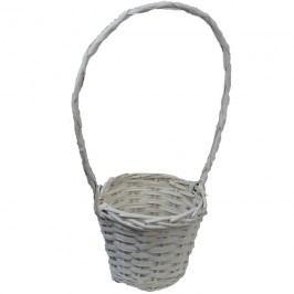 košík s plastem bílý, P0119
