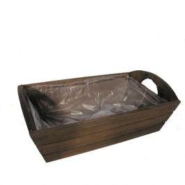 obal dřevo s úchyty hnědý 381601