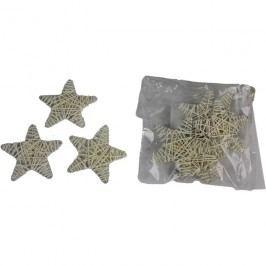 hvězda 7cm bílá, 10ks/bal., P0120-01