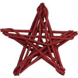 hvězda z dřívek červená, P0100-08