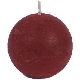 svíčka koule červená, pr. 8 cm, S0013-08