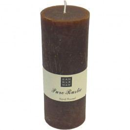 svíčka válec tm. hnědá, 18 cm, S0008-17