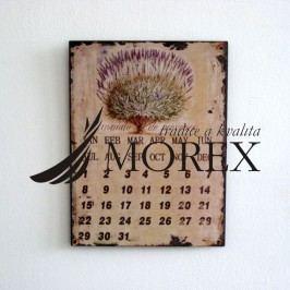 kovový  kalendář