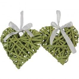 Srdce 15cm, sv.zelené, sada 2ks P0228-15