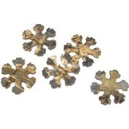 vločky zlaté 3,3 cm, 60 ks