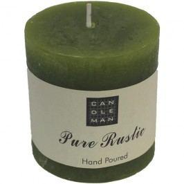 svíčka válec zelená, v. 7,5 cm, S0005-16