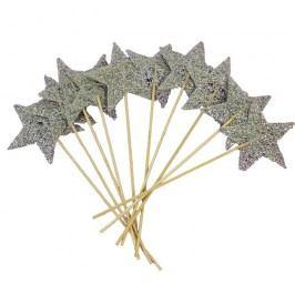 hvězda 7 cm stříbrná 10 ks/ bal.  381794