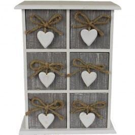 Dřevěná dekorační skříňka D0141