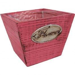 květináč s plastem růžový, 381597-05