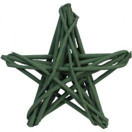hvězda z dřívek zelená, P0100-16