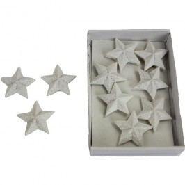 Hvězdičky bílé 10ks X0298