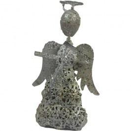kovový anděl s trumpetou malý, K0045