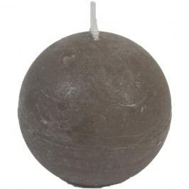 svíčka koule šedá pr. 8 cm, S0013-25