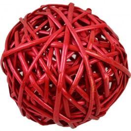 proutěná koule 15 cm červená