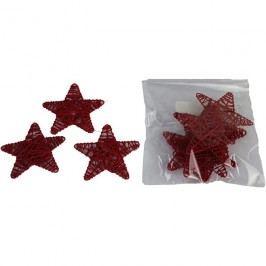 hvězda 7cm červená, 10ks/bal., P0120-08