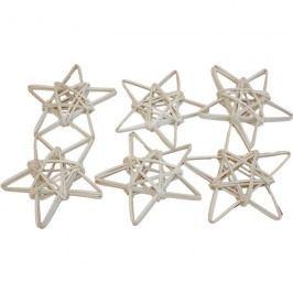 hvězda 10cm, 6 ks bělená