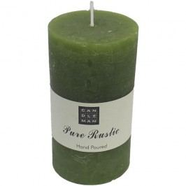 svíčka válec zelená, v. 13 cm, S0007-16
