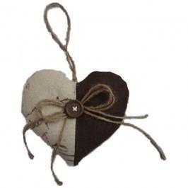 srdce k zavěšení hnědé, X0050