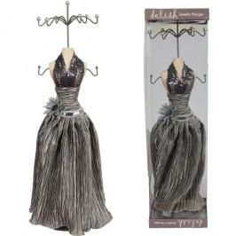 Stoj. na šperky šedý květ. 42cm X0213