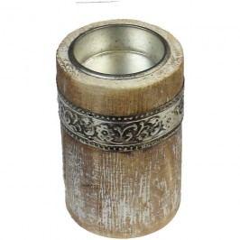 dřevěný svícen na 1 čaj.svíčku, D0071