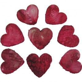 srdce červené 4,5cm, 60 ks