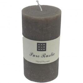 svíčka válec šedá v. 13 cm, S0007-25