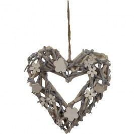 srdce s dekoracemi 25 cm P0201