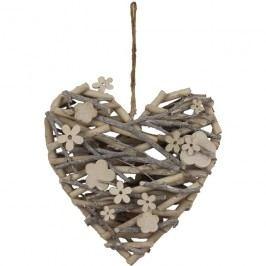 srdce proutěné dekor. P0198