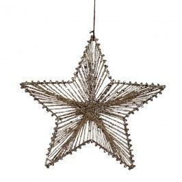 Hvězda z provázků 25 cm X0256
