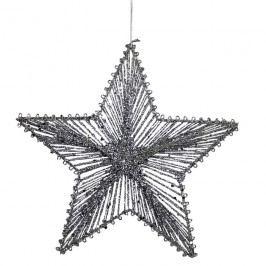 Hvězda z provázků 25 cm X0253