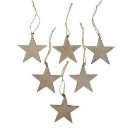 dekorace hvězda, sada 6ks D0213