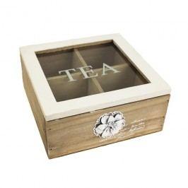Krabička na čaj s dekorací D0266