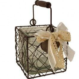 Drátěný košík na svíci  K0157