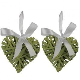Srdce 10cm, sv zelené, sada 2ks P0229-15