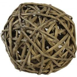 proutěná koule 15 cm šedá