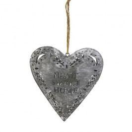 Srdce šedé větší