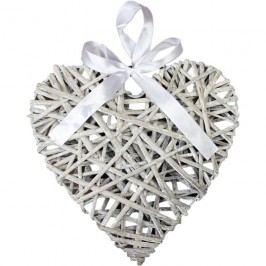 Srdce šedé 20 cm