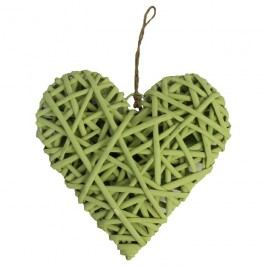 Srdce zelené  20 cm