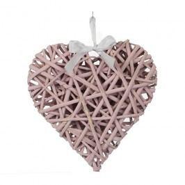 Srdce růžové 20 cm